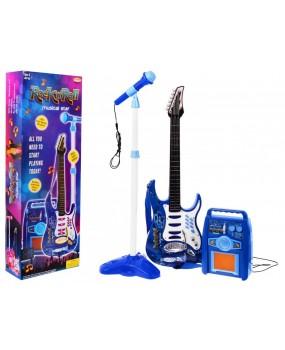 Elektrická gitara modrá